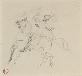 Chevalier (recto); Croquis (ve