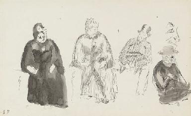 Quatres personnages assis (rec