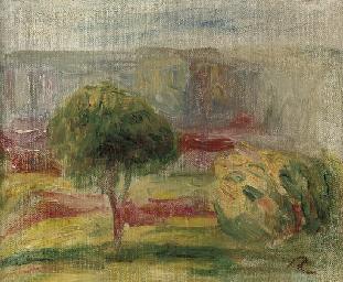 Paysage à l'arbre