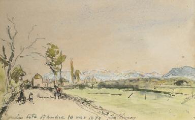 Paysage à la Côte-Saint-André