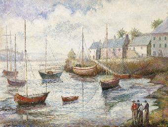 Temps gris au port de Brevidec
