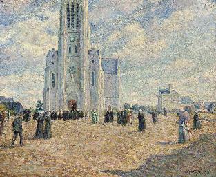 La place de l'église, Bretagne