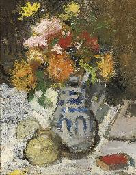 Bouquet de dalhias au carnet r