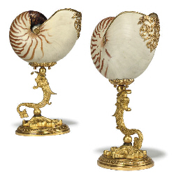 A PAIR OF GILT-METAL MOUNTED N
