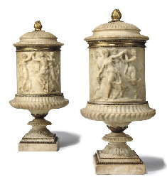 A PAIR OF ITALIAN GILT-BRONZE