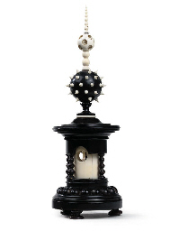 A VICTORIAN IVORY AND EBONISED