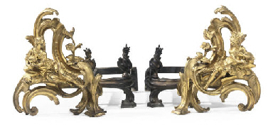 A PAIR OF LOUIS XV ORMOLU CHEN