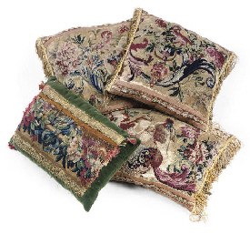 FOUR BEAUVAIS TAPESTRY CUSHION