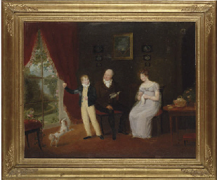 Group portrait of a lady and g
