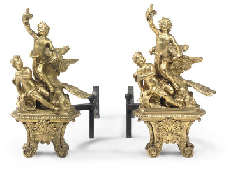 TWO MATCHED FRENCH ORMOLU CHEN