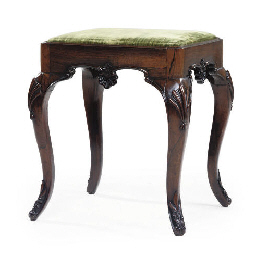 A PORTUGUESE ROSEWOOD STOOL