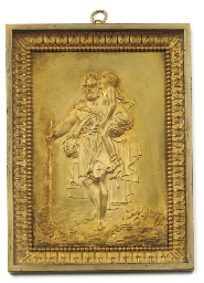 AN EMPIRE ORMOLU RELIEF PLAQUE