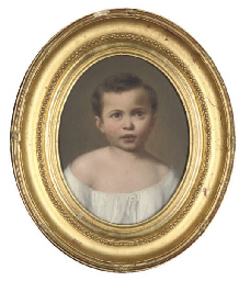 Portrait of a young boy, head