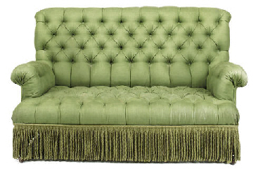 AN EDWARDIAN BEECH SOFA OF SMA