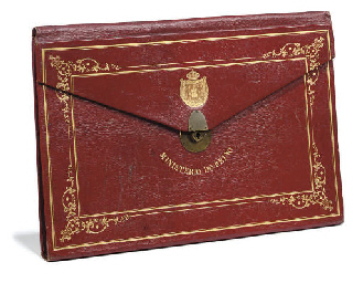 A PORTUGUESE GILT-TOOLED RED L