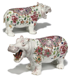 TWO SAMSON PORCELAIN MODELS OF