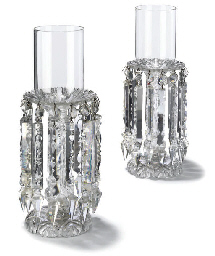 A PAIR OF CUT GLASS LUSTRES
