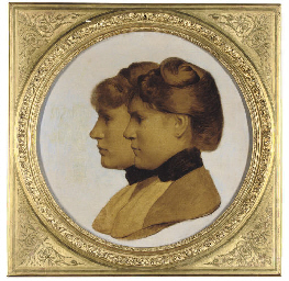 Portrait of two sisters in pro