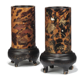 TWO JAPANESE TORTOISESHELL-VEN