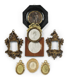A GROUP OF FIVE FRAMED PORTRAI