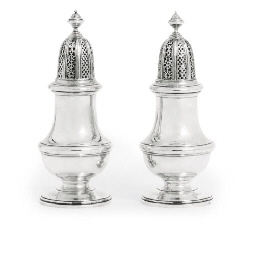 A PAIR OF ELIZABETH II SILVER