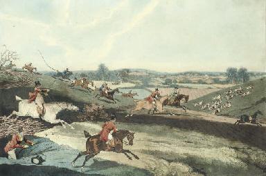 Four Hunting Scenes: Fox Hunte