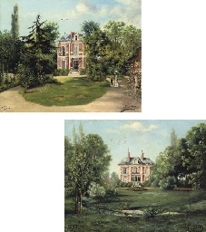 Two views of a château
