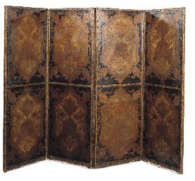 A DUTCH PARCEL-GILT AND POLYCH