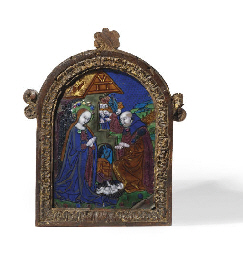 AN ENAMEL PLAQUE OF THE NATIVI
