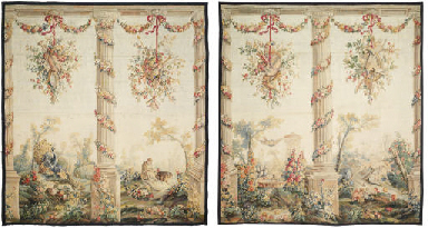 A PAIR OF LOUIS XVI VERDURE TA