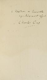 CROS, Charles (1842-1888). Le