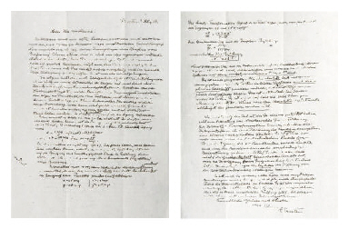 EINSTEIN, Albert. Longue lettr