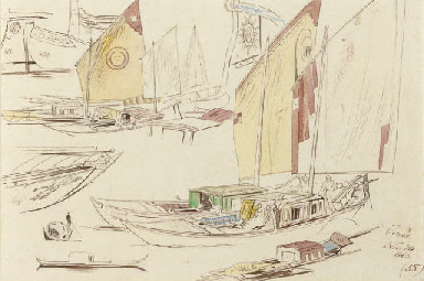Studies of Sailing Barges, Ven