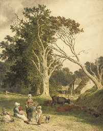 A farm scene near Hastings, Ea