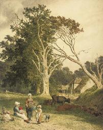 A farm scene near Hastings, Ea