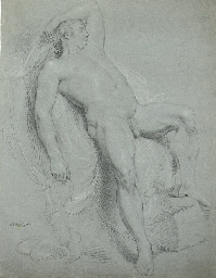 A male nude in the pose of the