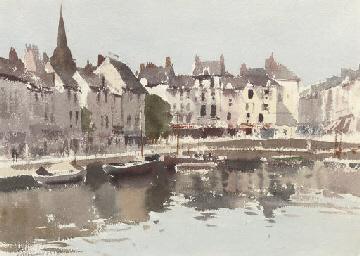 Early morning, Honfleur, Franc