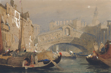 The Rialto Bridge, Venice; and