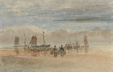 Fishermen bringing in the catc