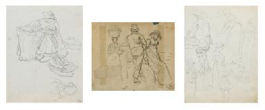 Sammelnummer von drei Figurens