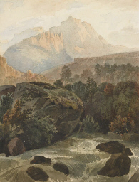 Vue d'un paysage montagneux av