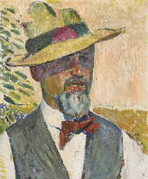 Selbstportrait mit Hut, 1917