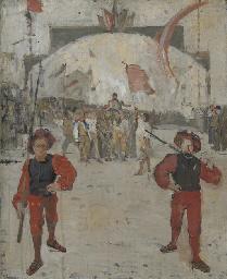 Schwingerumzug (Studie), 1882