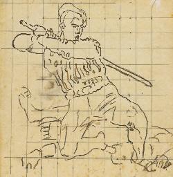 Kämpfender Krieger, Studie 'Rü