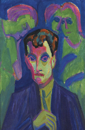 Portrait Albert Müller mit dre