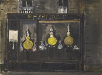 Apotheke in Paris, 1957
