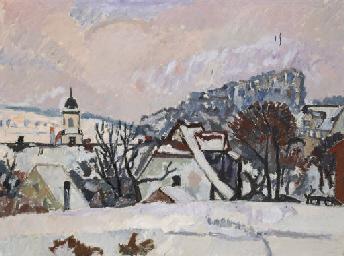Winterlandschaft, Kloster Fahr