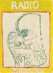 Engel, Harfe spielend, 1922