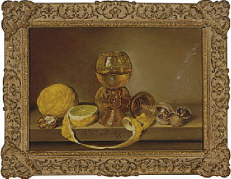 Still life of two glass goblet