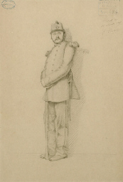 Study of a standing soldier; a